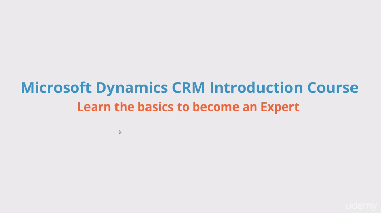 Microsoft Dymanics CRM Introduction Course